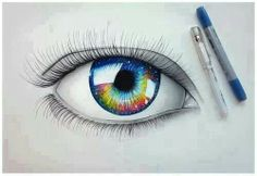 Drawn eye...