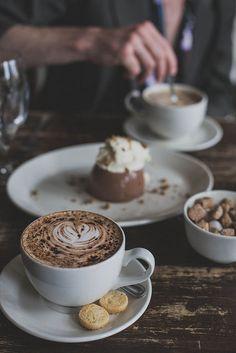cappuccino accompanied