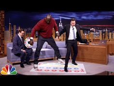 Jell-O Shot Twister with Shaquille O'Neal Jimmy Fallon Videos, Shaquille O'neal, Tonight Show, Behind The Scenes, Comedy, Shots, Hilarious, Youtube, Hilarious Stuff