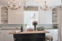 How To Create Open Cupboards in a Cottage Styled Kitchen ! by French Country Cottage