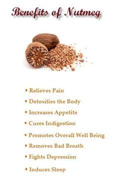 Nutmeg benefits Nutmeg adds a warm spicy sweet flavor to...