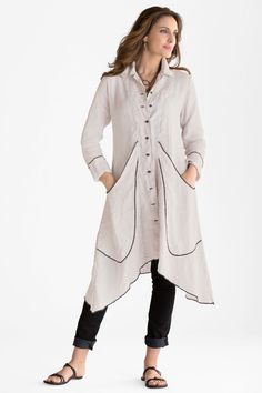 Quincy Duster: Cynthia Ashby: Linen Jacket | Artful Home