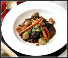 Jacques Pepin's Beef Stew in Red Wine Sauce.  A very special meal.