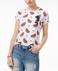 Mighty Fine Juniors' Watermelon Graphic T-Shirt | macys.com