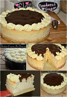 Vegetarian · This is a cheesecake you need to make like now yesterday! It starts with a sponge cake layer and Junior's Cheesecake recipe.) This gets topped with my mom's scrumptious pastry… More pies pies recipes dekorieren rezepte Best Cheesecake, Cheesecake Recipes, Dessert Recipes, Juniors Cheesecake, Cheesecake Cookies, Food Cakes, Cupcake Cakes, Mini Cupcakes, Just Desserts