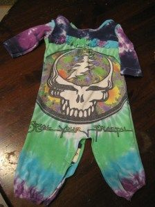 Grateful Dead repurposed tee romper with ruffles! Size 9mo.
