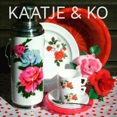 Mix van retro & vintage...  love it!! www.kaatje-en-ko.com