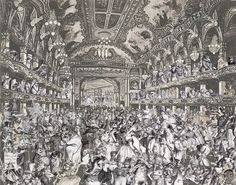 Marcel Duchamp's World Tour- The Animal's Fancy Dress Ball the The Tower Ballroom, Blackpool by Peter Blake