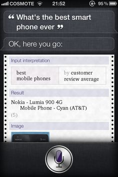 Best Smartphone ever (Siri)