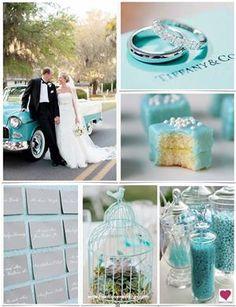 Tiffany Blue my wedding colors . Azul Tiffany, Tiffany Theme, Tiffany Party, Wedding Bride, Wedding Blog, Wedding Planner, Our Wedding, Dream Wedding, Wedding Ceremony