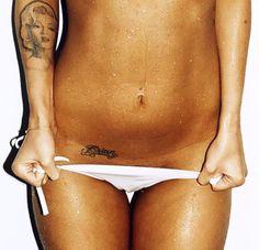 Megan Fox Tattoo - Brian - Marilyn - Love the placement of Brian