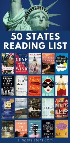 50 States Reading List: Best Books Set in Every State Up for an epic American Reading Challenge? Our 50 States Reading list has the best books set in every state to satisfy the best of bookworms. Books You Should Read, Best Books To Read, My Books, Book Club Books 2017, Best Books Of 2017, Feel Good Books, Books 2018, Story Books, Book Challenge