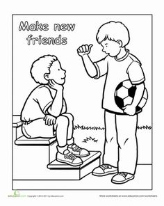 Preschool Life Learning Worksheets: Making New Friends Roller Coaster Ride, Life Learning, Tracing Worksheets, Catechism, Make New Friends, Learn English, Coloring Pages, Preschool, Teaching