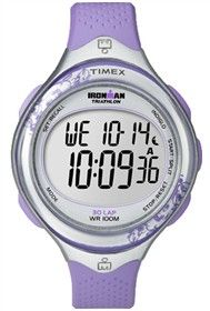 Timex Ironman Clear View (Purple) 30 Lap is an easy to use watch with feminine design and large, easy to read digital display.