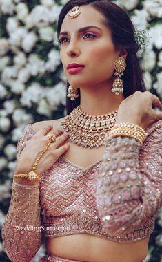 bridal jewellery ideas , bridal jewellery sets , bridal jewellery images , bridal jewellery brides , bridal jewellery tanishq , bridal jewellery latest collection , bridal jewellery indian wedding Bridal Jewelry Sets, Bridal Necklace, Bridal Jewellery, Bollywood Wedding, Indian Bridal Fashion, Romantic Look, Blush Roses, Bridal Beauty, Bridal Looks
