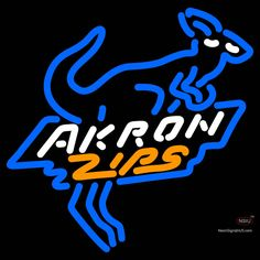 Akron Zips Alternate  Pres Logo NCAA Real Neon Glass Tube Neon Sign  x,if you want to get it , click the visit button or go to my website !