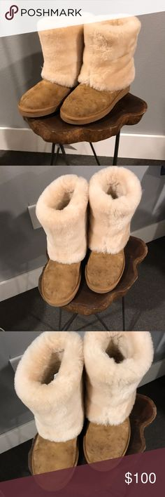 2c0f55895cd Leather Ugg Boots Leather Ugg Boots. Great condition and rarely worn. A few  spots