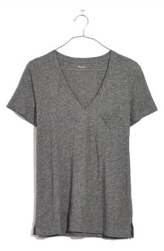 A classic pocket tee with a deep V-neckline is spun from soft, lightweight slub cotton in a spectrum of colors that add punch to your everyday wardrobe.