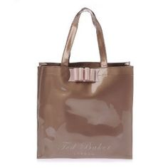 306876d92 Ted Baker Belecon Bow Icon Vinyl Bag In Gold - Size One  Amazon.co.uk   Clothing