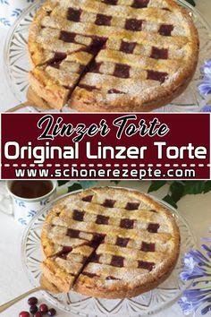 Original Linzer Torte Rezept - Das Rezept für eine Original Linzer Torte braucht ein wenig Geduld, aber die Mühe lohnt sich auf jeden Fall.  Schnelle und Einfache Torten Rezepte. #linzertorterezept #linzertorte #torte #tortenrezepte #mehlspeisen #mehlspeisenrezepte #mehlspeisenrezept #süßspeisen #süßspeisenrezept #süßspeisenrezepte #dessertrezepte #rezepte Linzer Torte, Famous Desserts, Apple Dumplings, Food For Thought, Apple Pie, Waffles, Dessert Recipes, Breakfast, Food Porn