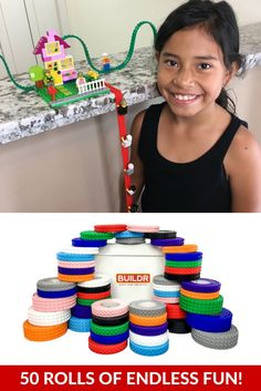 Kids Absolutely LOVE our Lego® Compatible Peel 'n Stick Tape...Great for  Gifts,  birthday parties,  sleep overs, and more!