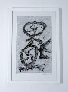 jan schoonhoven tekening oi inkt 50 x 325 cm gesigneerd collectie excellent art utrecht