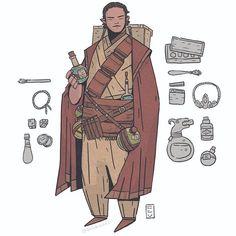 Bottlebelt Coolcape: a commission - - - #dnd #illustration #fantasy #characterdesign #roleplay #tabletop #costumedesign #art #digitalart #conceptart