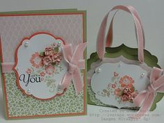 It is always nice to get a sweet gift with a card. I love this combo. Very pretty