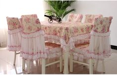 Find More Information about 9pcs lace dining table cover set Classic beautiful rose flower tablecloth chair cushion cover home tabledress 4 chair+1table set,High Quality cover chair,China cover dog Suppliers, Cheap chair covers for chairs with arms from Queen King Bedding Set  on Aliexpress.com