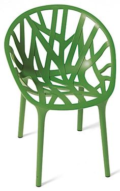 Vegetal Chair - a Stackable Chair by Vitra by Vitra, color = Cactus; glides = Hard (for carpets) Vitra Vitra Design, Chair Design, Furniture Design, Kitchen Chairs, Dining Chairs, Desk Chairs, Home Goods Chairs, Tree Chair, Product Design