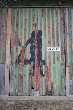 found signage by Mark Simonson Type Treatments, Hand Drawn Type, Peeling Paint, Typography, Lettering, Rustic Industrial, Letters And Numbers, Color Photography, Signage