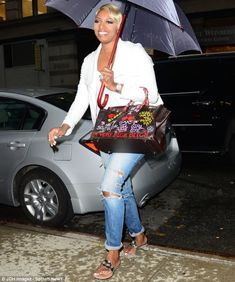 RHOA's NeNe Leakes defaces Hermes Birkin bag with Real Housewives catchphrases | Mail Online