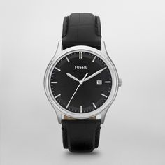 FOSSIL® Watch Collections Ansel Watches:Men Ansel Leather Watch - Black FS4685