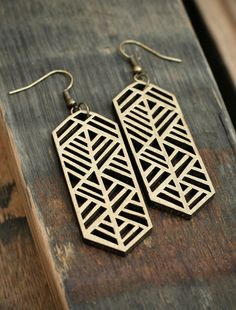 Wooden African Border – Gold by Pigment & Pine!