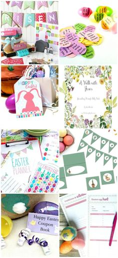 Spring & Easter printables  for adults and kids - egg hunts, Easter Basket ideas and decorations!