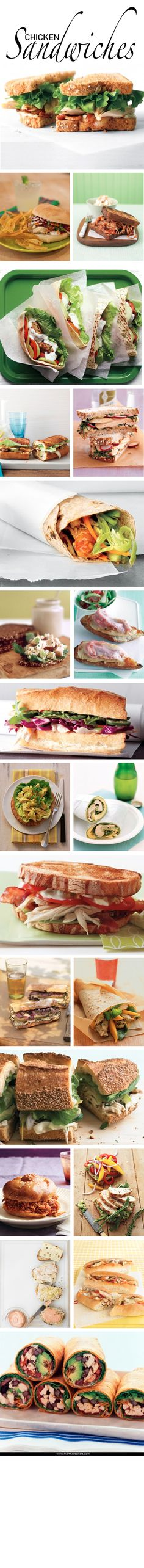 Chicken Sandwiches | Martha Stewart Living