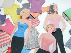 homework: Little Crafts: paper dolls