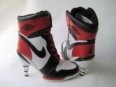 I dont like heels... but these are pretty sick! Nike High Heels