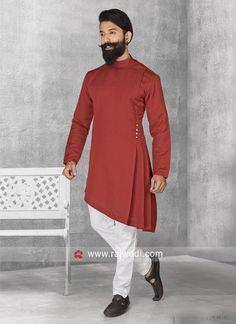 Stylish Maroon Color Pathani Suit. #EIDSale2019 #Rajwadi #bestoffer #eid2019 #eidoutfits #eidmubarak #pathanisuit #designer #stylish