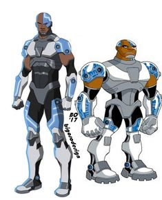 This is my reanimated design of cyborg from the original teen titans series. Comment below on what you would like to see next. Cyborg Dc Comics, Dc Comics Art, Marvel Dc Comics, Teen Titans Cyborg, Teen Titans Fanart, Young Justice Characters, Dc Characters, Teen Titans Series, Batman Redesign