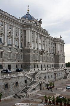 North Facade, Palacio Real de Madrid, Spain