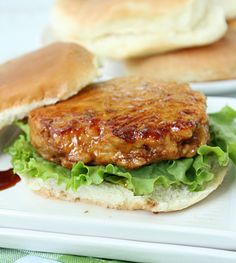 Chicken Teriyaki Burgers (or Sliders) with Homemade Teriyaki Sauce from Table for Seven