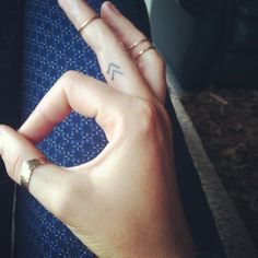 My new finger tattoo , love it!! Viking symbol meaning ' create your own reality' or as i like to think change your perception change you world.  Chevron