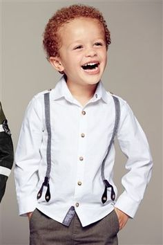 Buy White Shirt With Mock Braces (3mths-6yrs) from the Next UK online shop