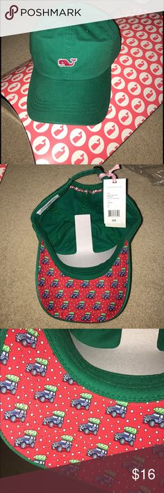 NWT Vineyard Vines baseball cap/hat NWT Vineyard Vines baseball cap/hat with festive Jeep carrying tree design. 100% cotton. Great as a gift or just for yourself! Still has all original tags, bags, boxes, and cardboard inside to maintain shape. Leave offers below! Vineyard Vines Accessories Hats