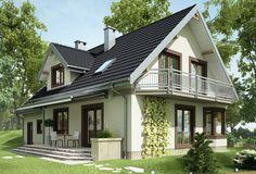Projekt domu Turkus - dom z dużą jadalnią w kuchni oraz garażem na 2 samochody
