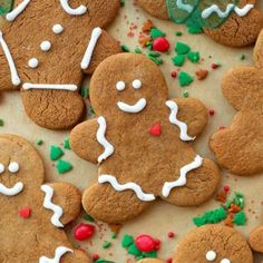 These classic gingerbread cookies are made from scratch and full of warm winter spices. Fun, festive and perfect for the holidays!