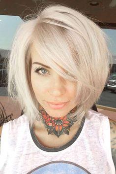Nouvelle Tendance Coiffures Pour Femme  2017 / 2018   Les cheveux moyens avec les franges sont si populaires en raison de deux facteurs de base: il est facile de