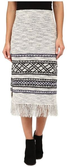 Free People Fringe Sweater Skirt