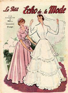 revue le petit ECHO DE LA MODE n°48 du 26 novembre 1950